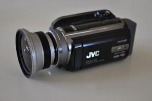 JVC Everio HD 40 mit Raynox 5050 Pro HD Weitwinkel