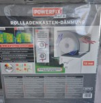 Powerfix Rollladenkastendämmung