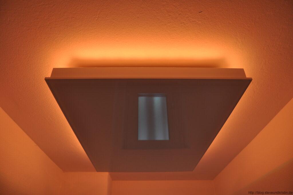 Deckenheizung mit LED Lichtleiste
